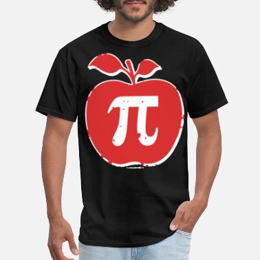Men s Apple Pi 3 14 Funny Math Geek Nerd Humor gir - Men's T-Shirt