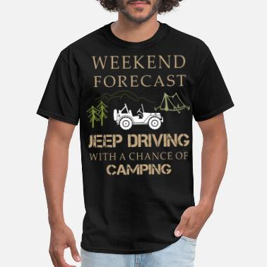 Jeep weekend forecast jeep driving run t shirts - Men's T-Shirt
