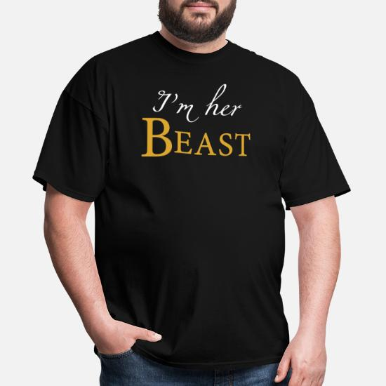 5c06af5816 Couple - i'm her beast his beauty matching coup Men's T-Shirt ...