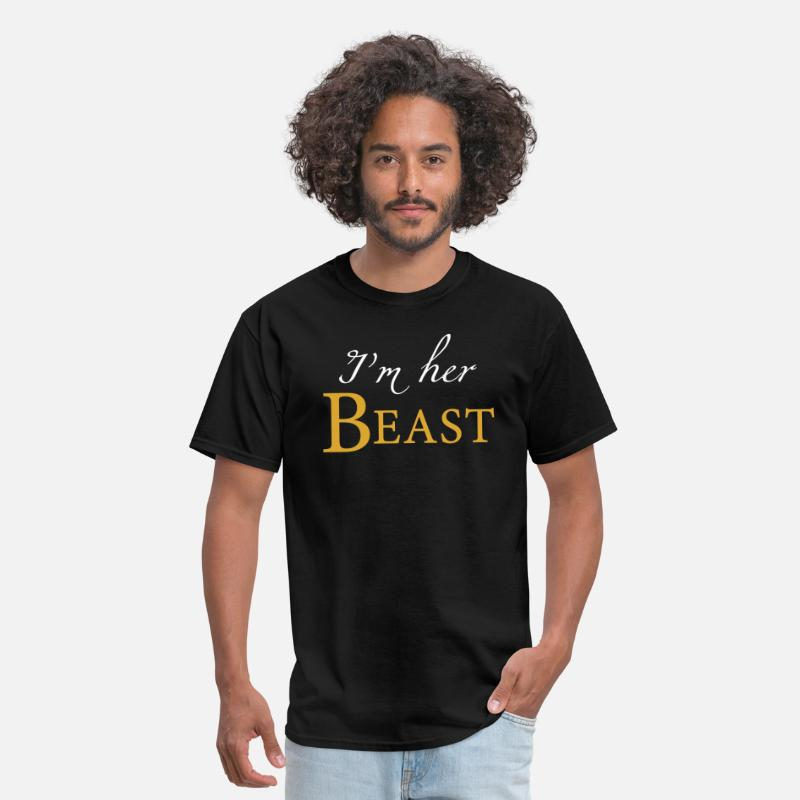 ce36beb56a Couple - i'm her beast his beauty matching coup Men's T-Shirt ...