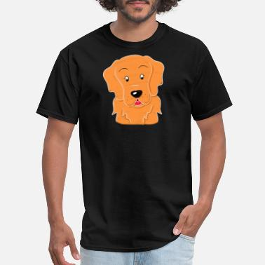 Cute Dog Draw Golden Retriever Dog Drawing cute Gift idea - Men's T-Shirt
