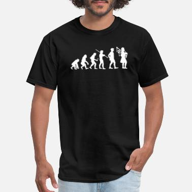 Bagpipe Player - evolution bagpipes player funny celtic - Men's T-Shirt