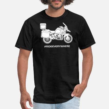 Triumph Motorcycle RIDE EVERYWHERE - Men's T-Shirt