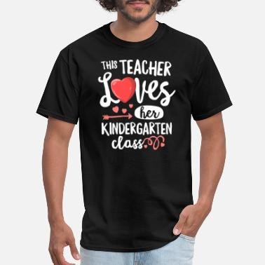Kindergarten This Teacher Loves Kindergarten TShirt Valentines - Men's T-Shirt