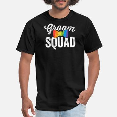 Gay Bachelor Party Groom Squad Shirt LGBT Pride Gay Bachelor Wedding Gift - Men's T-Shirt