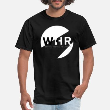 White Label Designer White Horse Records Logo - Black - Men's T-Shirt