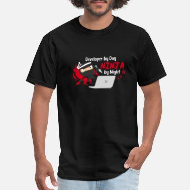 Web Developer Funny Developer by Day Ninja by Night - Gift Idea - Men's T-Shirt
