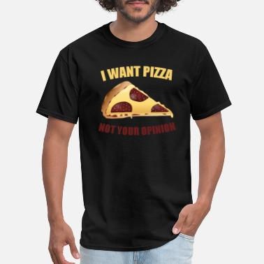 Overweight Pizza eat funny antisocial fat overweight present - Men's T-Shirt