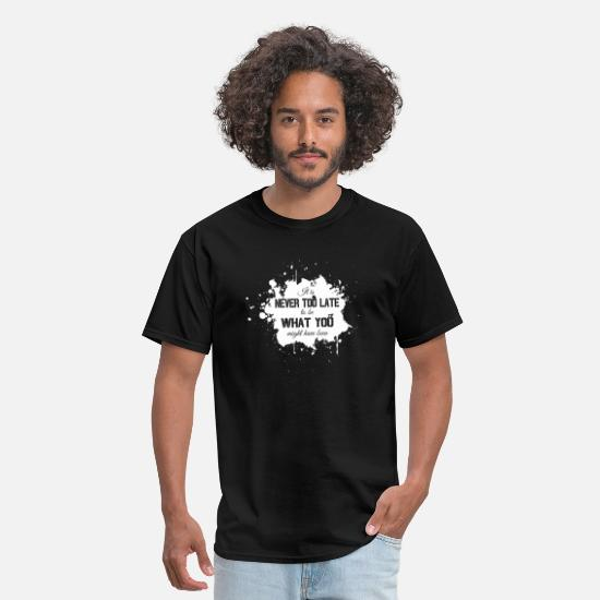 Quotes T-Shirts - Grunge Inspirational Quote - Men's T-Shirt black