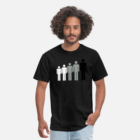 Big T-Shirts - adult big child crew friends grow line many male m - Men's T-Shirt black