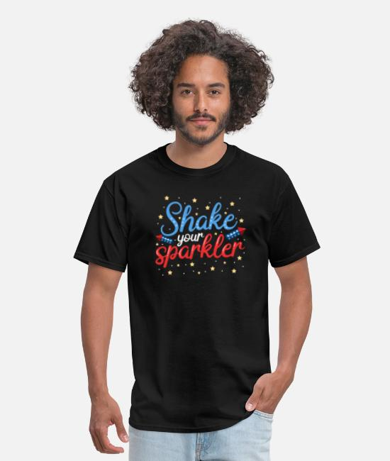Usa T-Shirts - 4th Of July Sparklers - Men's T-Shirt black