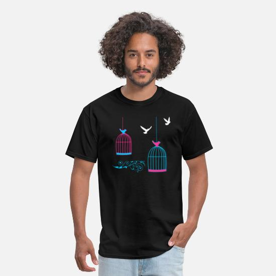 Cage T-Shirts - bird cage - Men's T-Shirt black