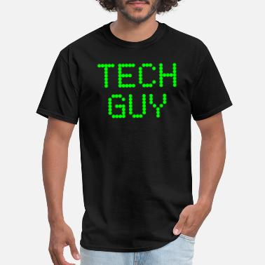 Guy Tech Guy Plain Text Computer Geek Nerd Support - Men's T-Shirt