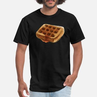 Carbs Humor Cool Waffle - Breakfast Food Starch Carb Humor - Men's T-Shirt