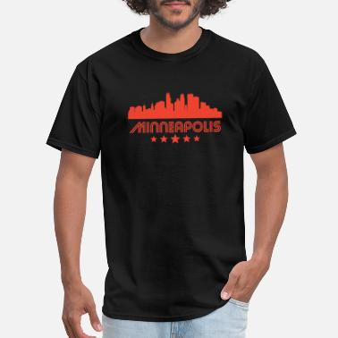 Minneapolis Retro Minneapolis Skyline - Men's T-Shirt