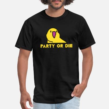 Party Parrot PARTY OR DIE - yellow party parrot - Men's T-Shirt