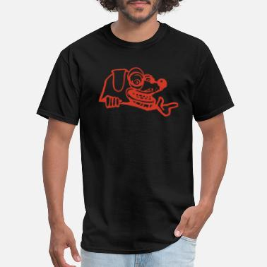 Crazy Eyes Crazy dog with crazy eyes - Men's T-Shirt