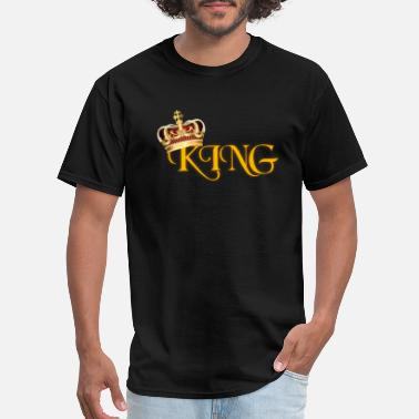 Lettering Crown GOLD KING CROWN WITH YELLOW LETTERING - Men's T-Shirt