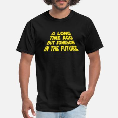 Luke Skywalker A Long Time Ago But Somehow In The Future - Men's T-Shirt