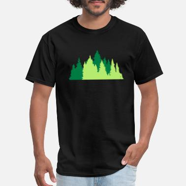Conifer conifer forest trees forest conifer forest silhoue - Men's T-Shirt