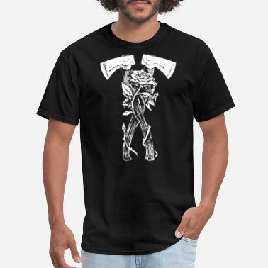 Ax Jokes Axes and Roses - Men's T-Shirt