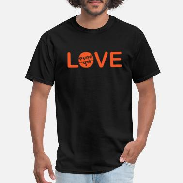 Pune Love With Pune In English And Marathi T Shirt - Men's T-Shirt