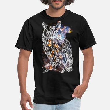 Cool Galactic Owl - Men's T-Shirt