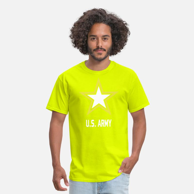 75401d5692b Army Star U.S. military logo for black t-Shirts Men's T-Shirt - safety green