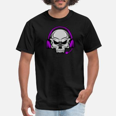 Headphone Skull - Headset - Men's T-Shirt
