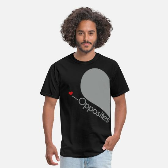 Couples T-Shirts - opposites_attract_left_side - Men's T-Shirt black