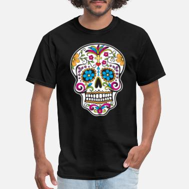 Day Of The Dead sugar_skull_colored - Men's T-Shirt
