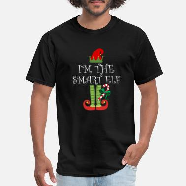 Smart I'm The Smart Elf Matching Family Group Christmas - Men's T-Shirt