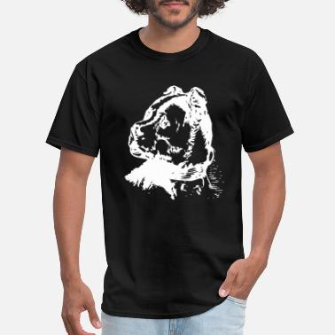 Ear Dogs Strong dog with tiny ears - Men's T-Shirt