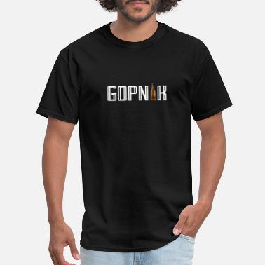 Russian Culture Gopnik russian urban beer bottle shirt gift - Men's T-Shirt