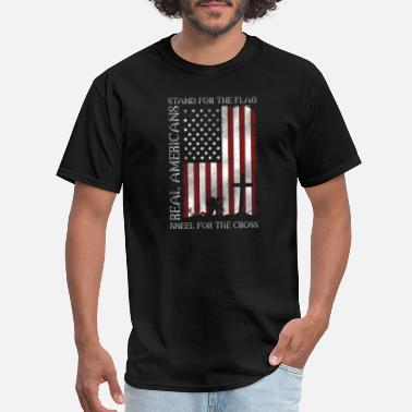 Standby Real Americans Stand For The Flag US T shirt - Men's T-Shirt