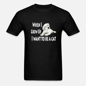 When I Grow Up I Want To Be A Cat Funny Quotes Unisex Vintage Sport