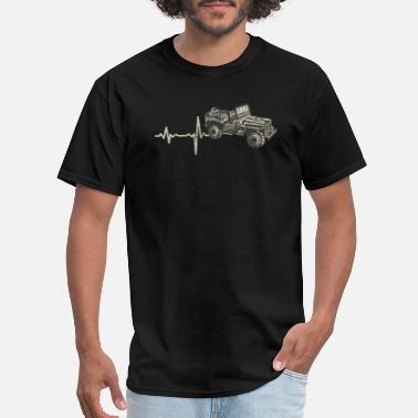 Heartbeat With Jeep shirt gift heartbeat jeep - Men's T-Shirt