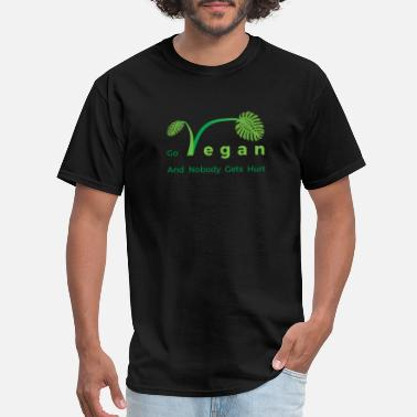 Tropical Leaves TROPICAL LEAVES GO VEGAN - Men's T-Shirt