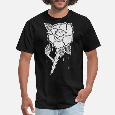 Cool Rose OLD IS COOL WHITE ROSE - Men's T-Shirt