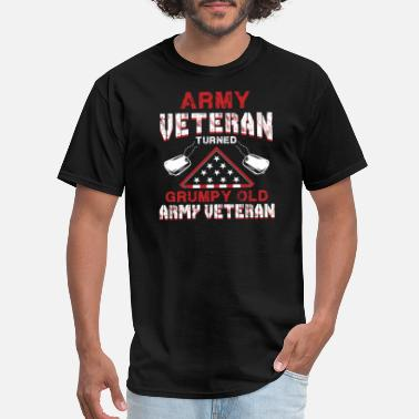 Medal Of Honor Army Veteran Shirt Military Gift Grumpy Old Army V - Men's T-Shirt