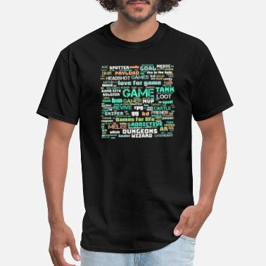 Strike Gamer word cloud for Gift - Men's T-Shirt