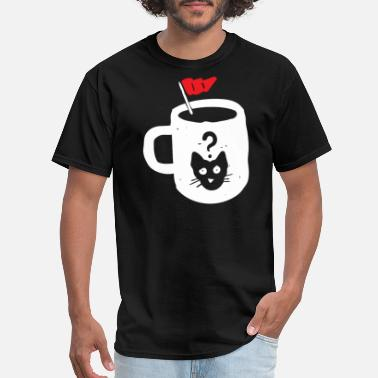 Cats And Coffee Curious Cat s Coffee - Men's T-Shirt