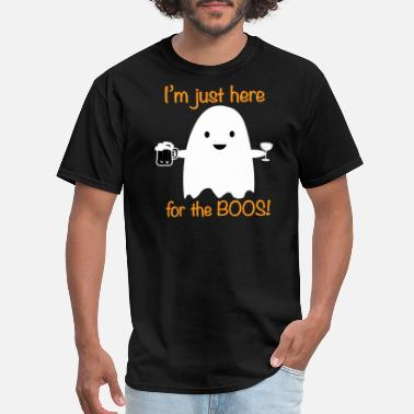 Beer Here for the Boos Halloween Ghost - Men's T-Shirt