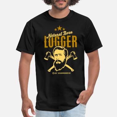 Natural Natural Born Logger - Men's T-Shirt