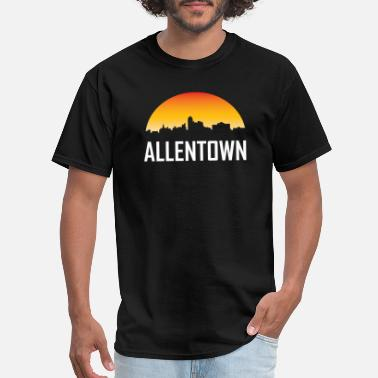 Allentown Pa Allentown Pennsylvania Sunset Skyline - Men's T-Shirt