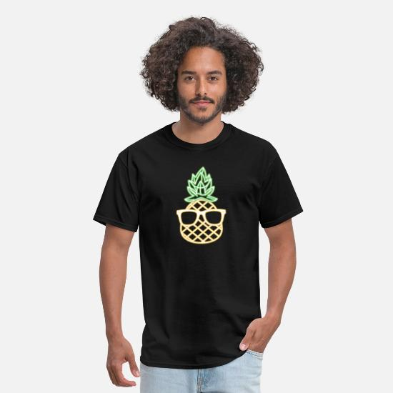 Party T-Shirts - Luau Party Pineapple print For Glow Party Costume - Men's T-Shirt black