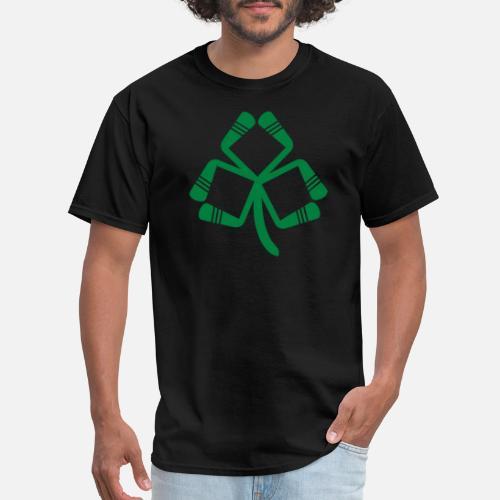 a9b498ed03 Ice Hockey St Patrick s Day Irish American Hockey Men s T-Shirt ...