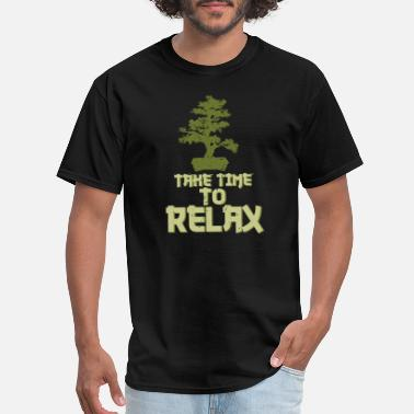 For Gamer Couple Relaxing Bonsai Tree - Men's T-Shirt