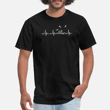 Heartbeat Wave Ocean Waves Heartbeat - Men's T-Shirt