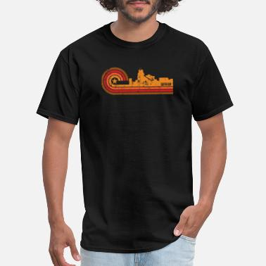 Durham Nc Retro Style Durham North Carolina Skyline - Men's T-Shirt